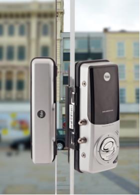 Cerrojo Yale Bluetooth Ydg313 Para Puertas De Cristal Seteho